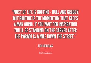 routine Ben Nicholas