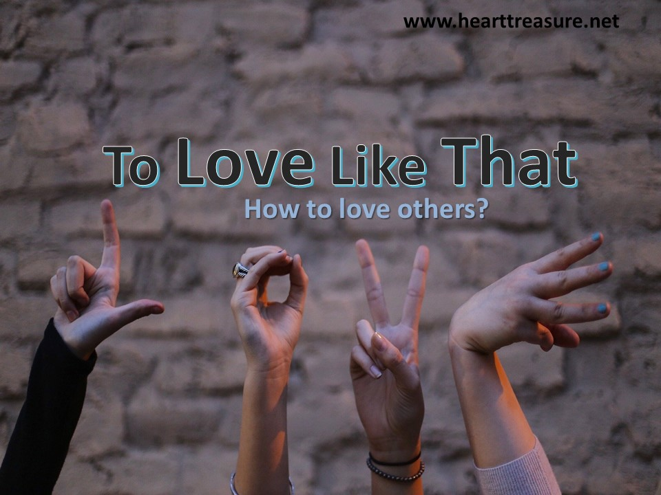 how to love other people