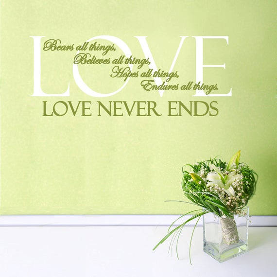 Love endures to the end